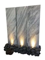 Palisade Marmor Taco 200x50x4-6cm mit Betonsockel