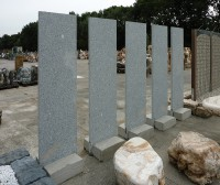 Palisade Granit Taco  4x50x200cm mit Betonfuß