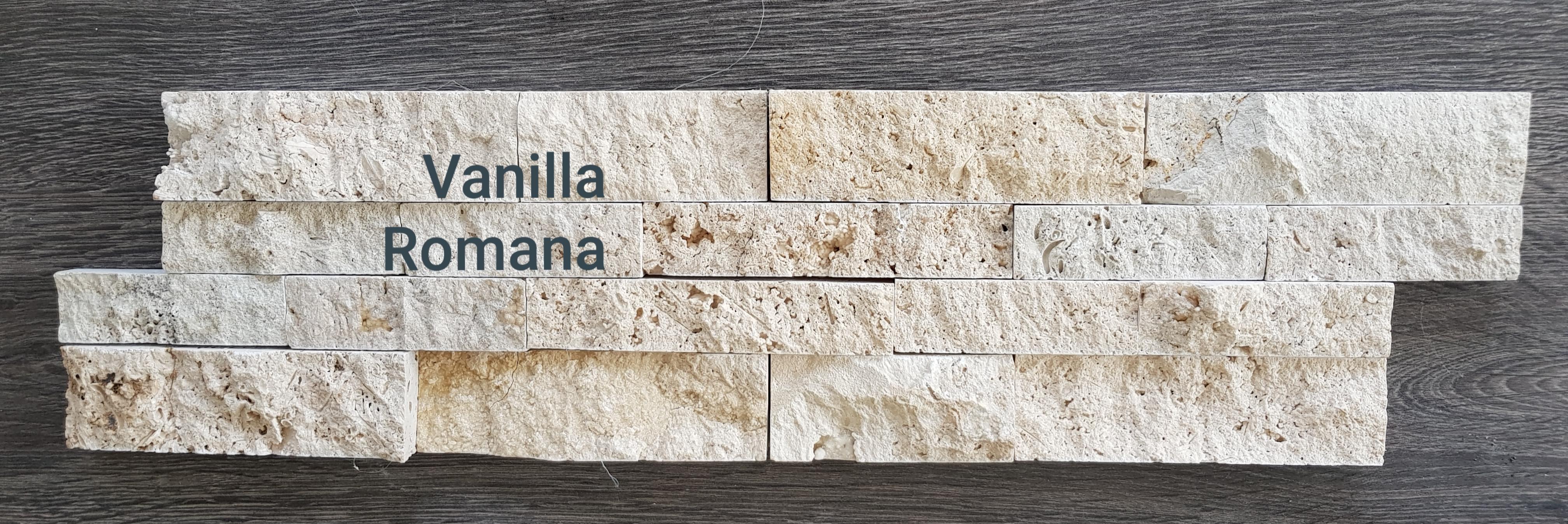 Verblender Travertin Vanilla Romana 60x15x2-3cm