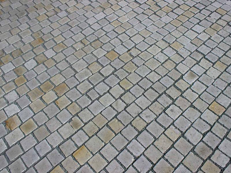 Pflastersteine Obernkirchener Sandstein 8 - 10 cm