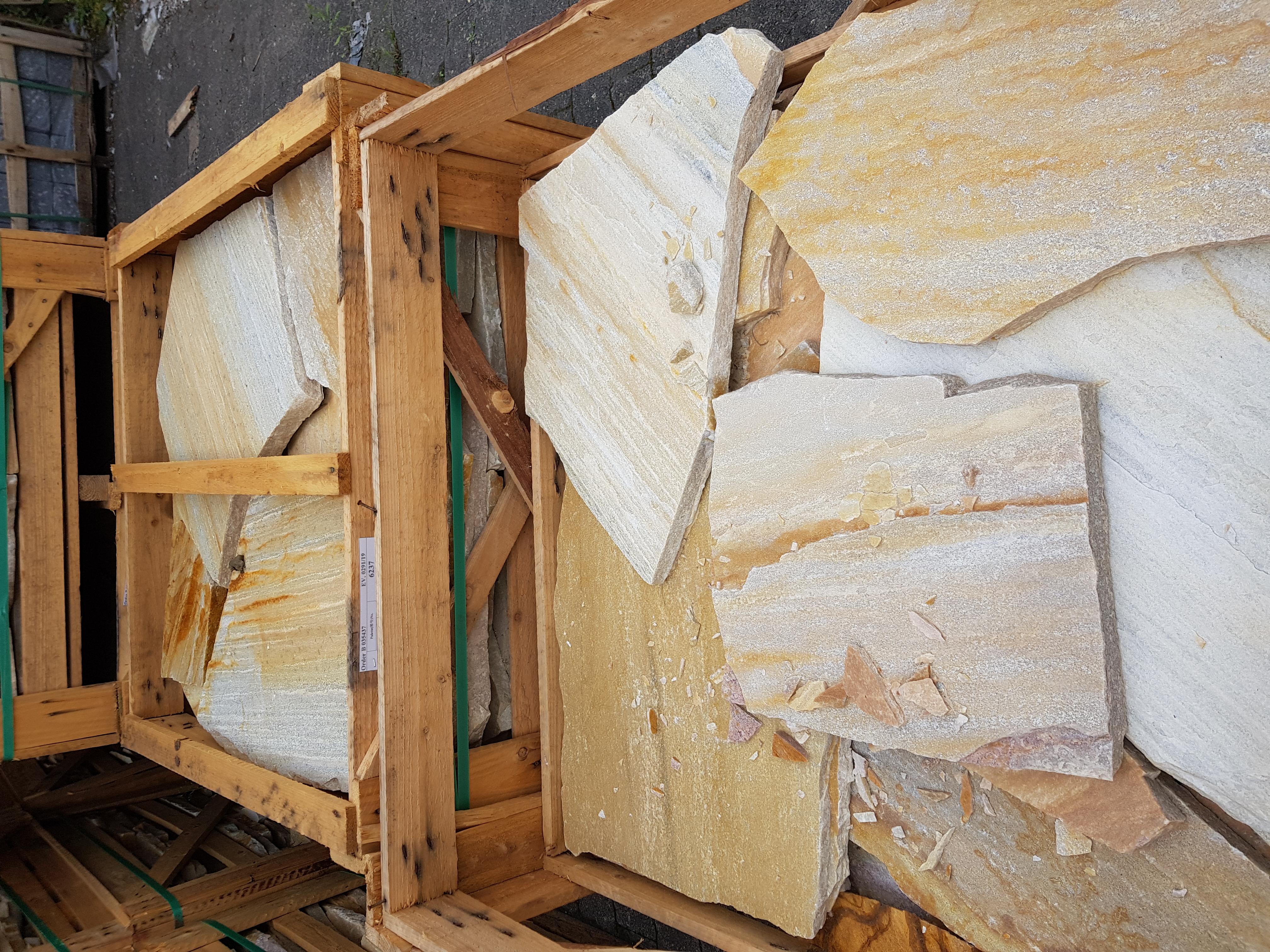 Polygonalplatten Rio Dorado 2 -4 cm