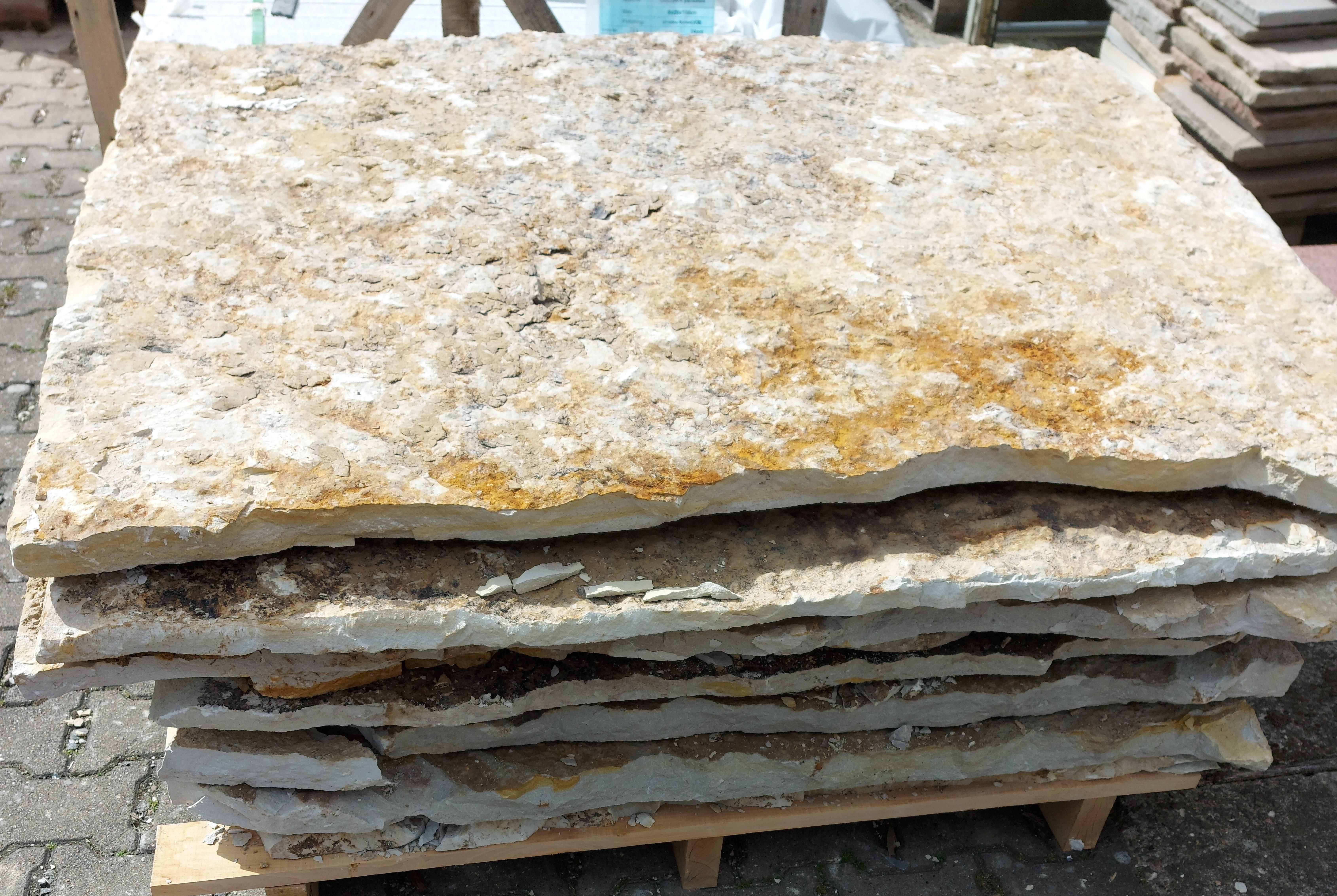 Naturlagerplatten Obernkirchener Sandstein Palette ca. 10m²