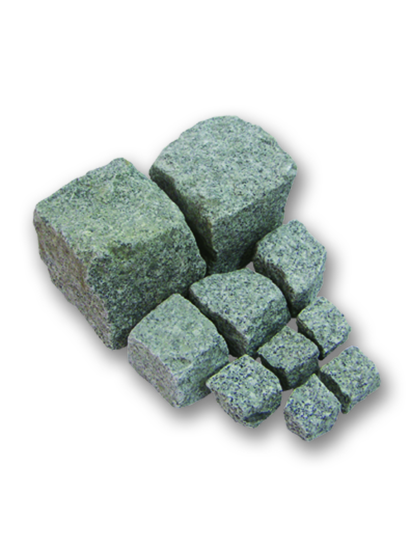 Pflastersteine Cavala Granit hellgrau 6/8cm