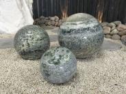Kugel Marmor grünweiß geadert 30cm
