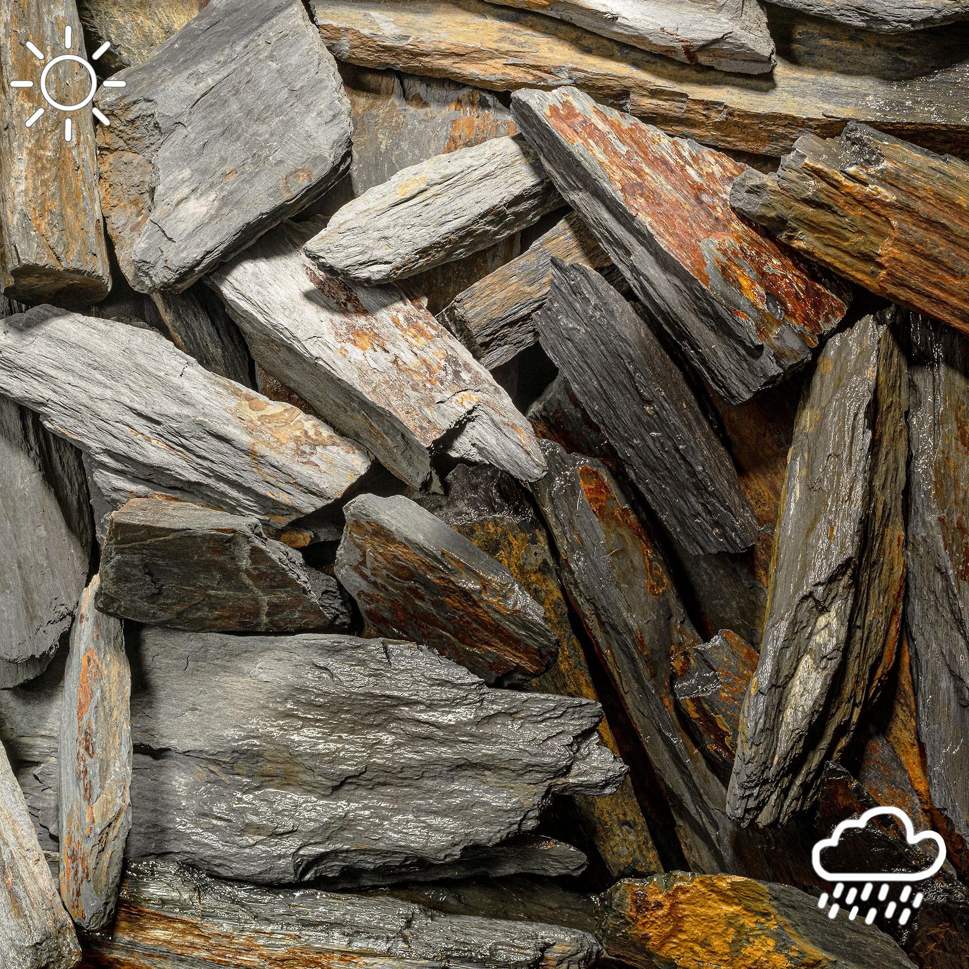 Schiefer Bruchsteine bis 40cm Länge