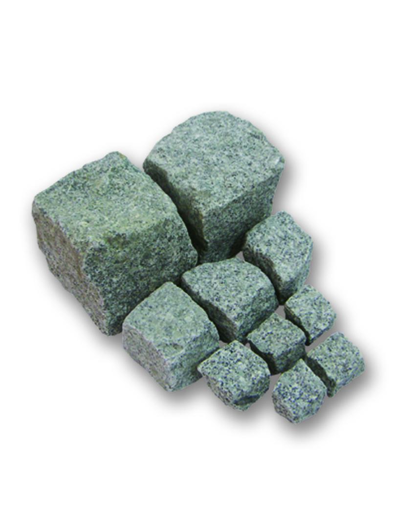 Pflastersteine Cavala Granit hellgrau 8/10cm