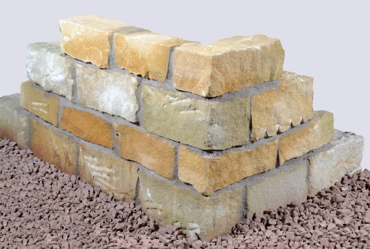 Mauerstein Sandstein 40x20x20