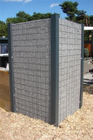 Alupfosten für Splittkorb H270cm 9x9cm