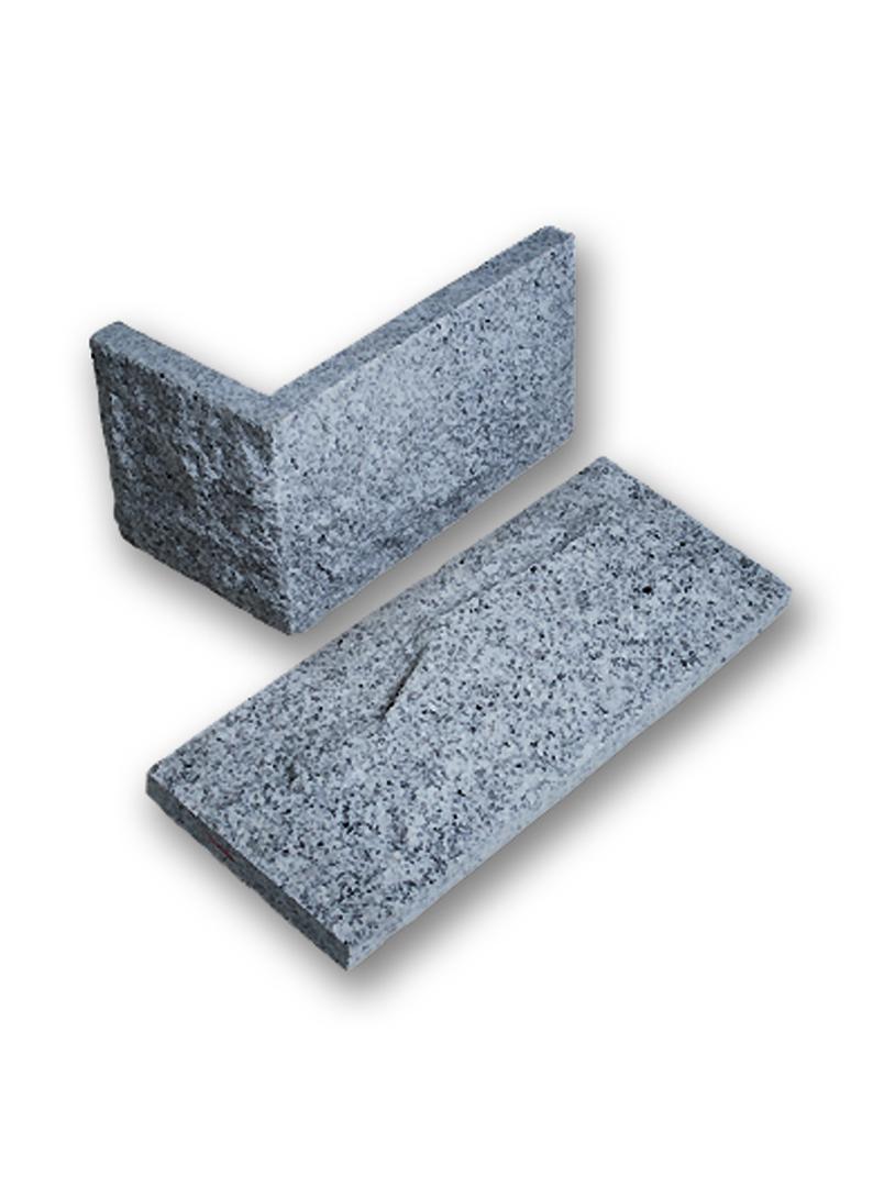 Verblender Granit hellgrau 19cm Höhe